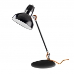 Dome Spotlight Black and Chrome Table Lamp